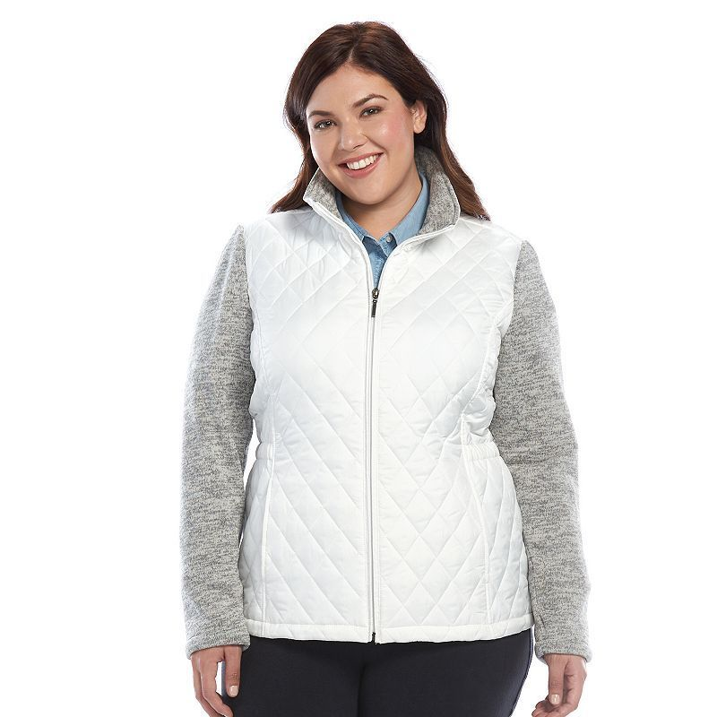 908d21f29f73 Women s Weathercast Quilted Sweater Fleece Jacket