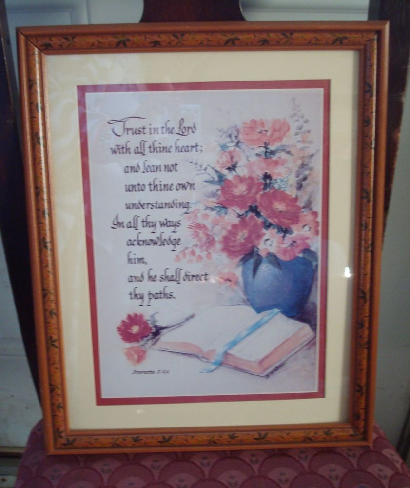 Beautiful vintage trust in thy lord design floral frame proverbs beautiful vintage trust in thy lord design floral frame proverbs 15x12 picture jeuxipadfo Gallery