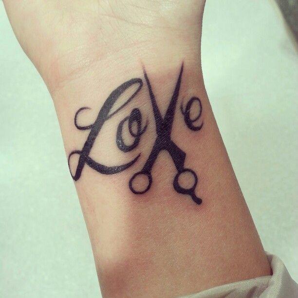 Hair Scissor Tattoos On Pinterest Stylist Tattoos