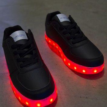 Light Up LED Shoes - All Black (Women's