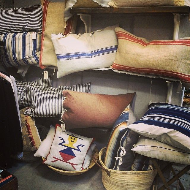 Vintage textile pillows by Iverlee at The Mart Collective in Venice, CA.