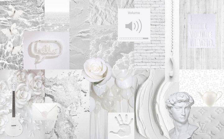 white collage desktop wallpaper collage desktop