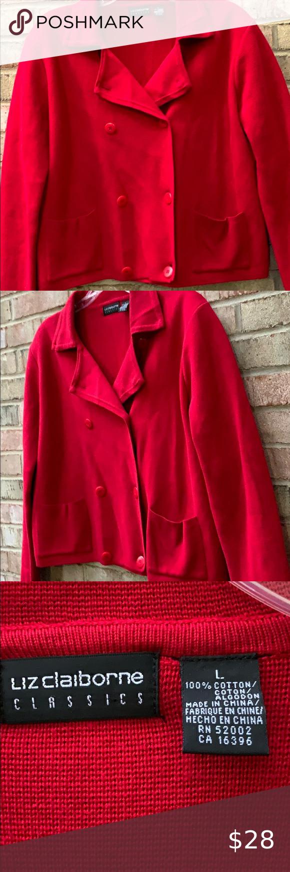 Vermilion Red Liz Claiborne Jacket Jackets Liz Claiborne Clothes Design [ 1740 x 580 Pixel ]