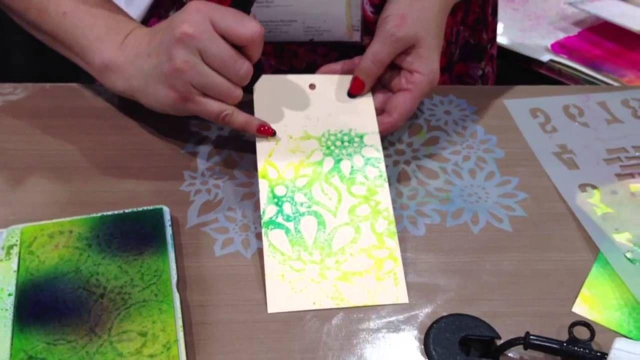 CHA Summer 2013 - Ranger Ink - Dyan Reaveley - Ink Spray Pad Techniques 2