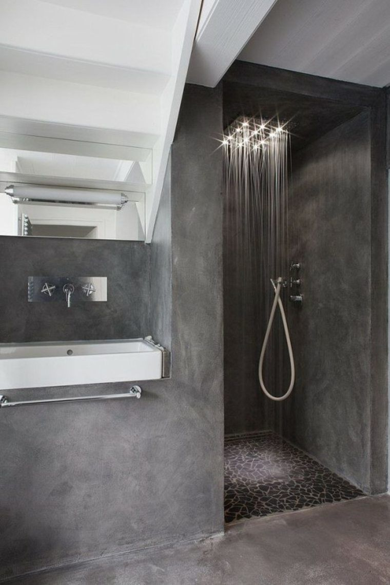 douche l 39 italienne 31 exemples salles de bain. Black Bedroom Furniture Sets. Home Design Ideas