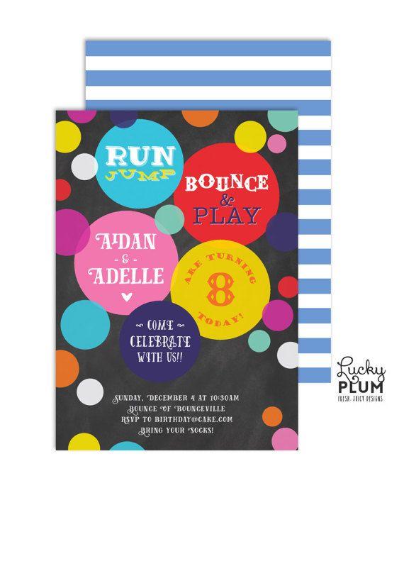 jump party invitation jump birthday invitation trampoline