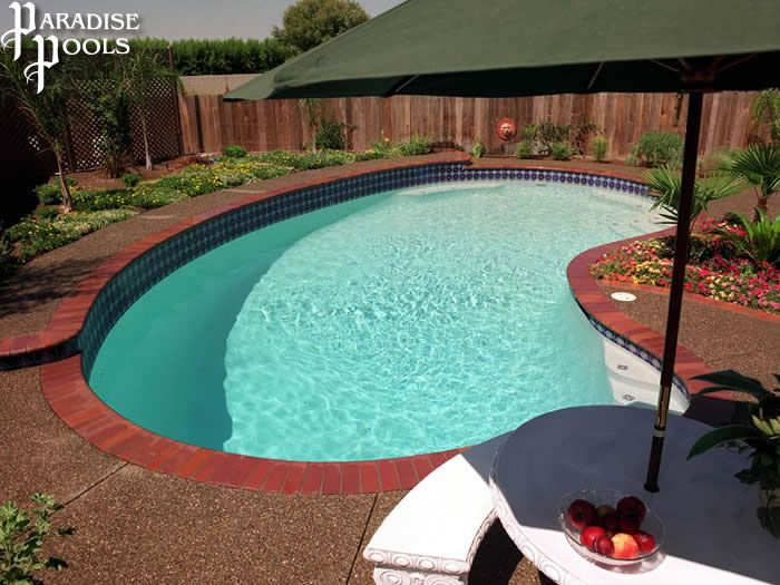 A Paradise Pools Classic Kidney Bean Shape Pool Shapes Inground