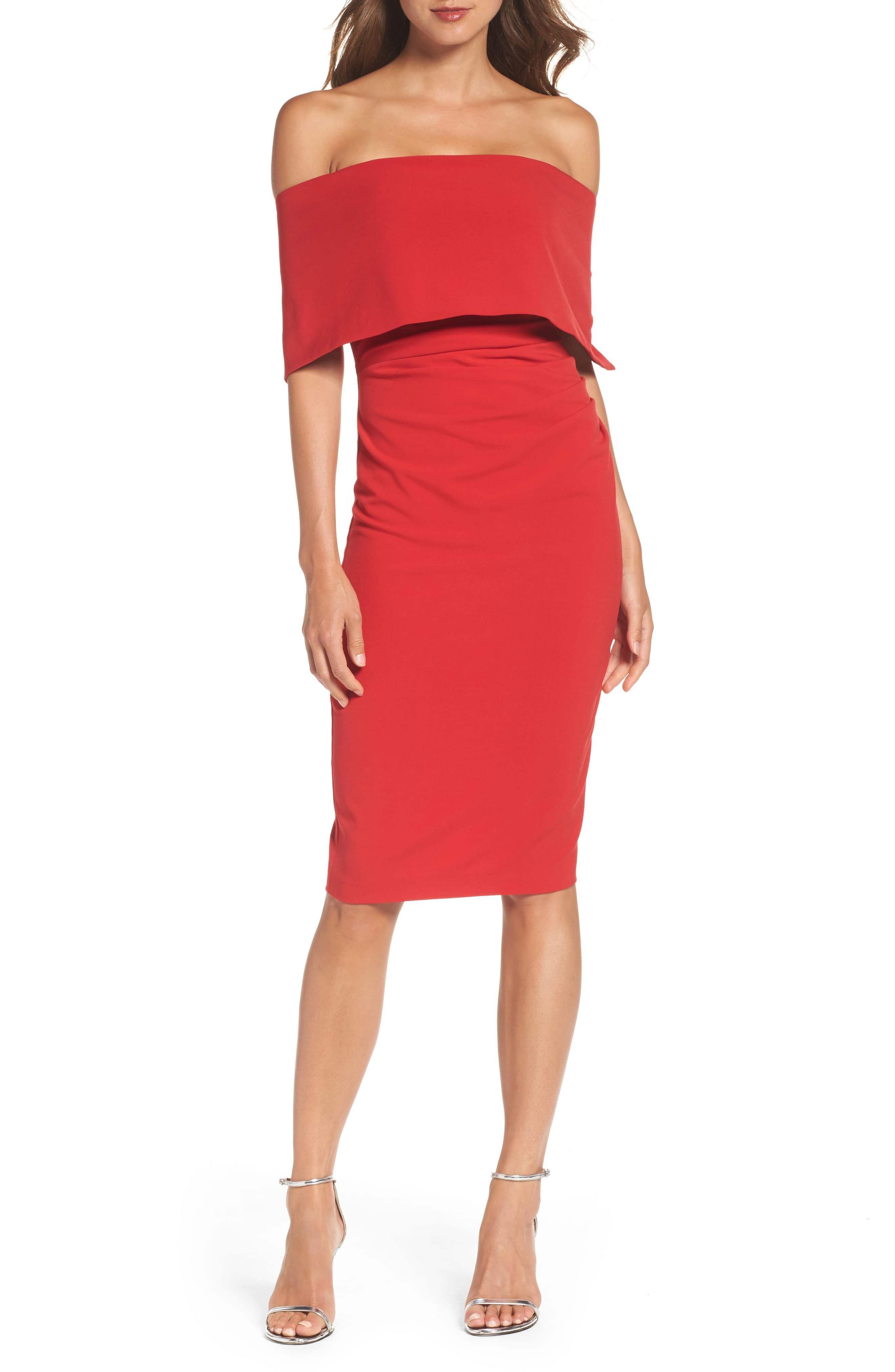 Women S Vince Camuto Popover Midi Dress Size 12 Red Dresses To Wear To A Wedding Red Cocktail Dress Vince Camuto Dress [ 4048 x 2640 Pixel ]