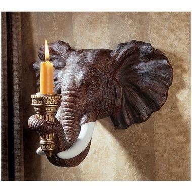 Elephant wall sconce