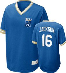 bf90464adc9 Kansas City Royals Bo Jackson  16 Nike Royal Cooperstown V-Neck Player  Jersey