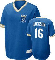 the best attitude 90b3b 3d98f Kansas City Royals Bo Jackson #16 Nike Royal Cooperstown V ...