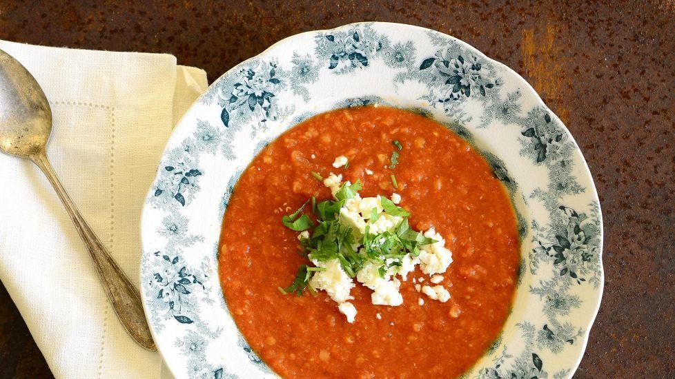 Marokkolainen linssi-tomaattikeitto
