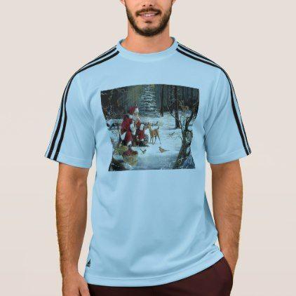 santa claus painting christmas art t shirt mens sportswear fitness apparel sports men