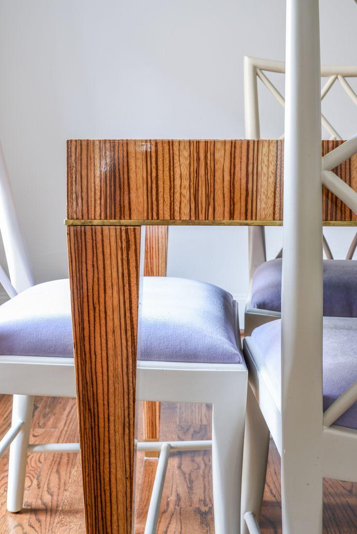 Blue Print Zebra Wood Dining Table  Lavender Dining Chairs  Blue Gorgeous Zebra Dining Room Chairs Design Inspiration