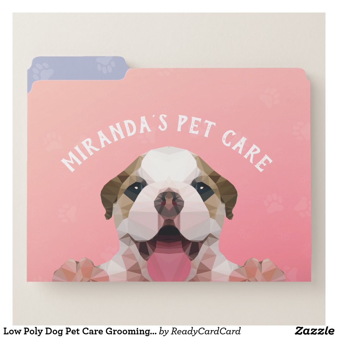 Low Poly Dog Pet Care Grooming Bathing Food Salon File Folder Zazzle Com Pet Care Pet Dogs Pet Clinic
