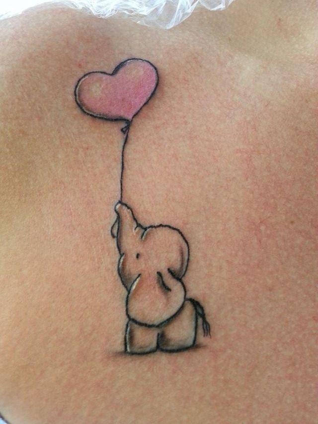 47cb9cc54 Elephant Love Tattoos For Kids, New Tattoos, Tattoo For Kids Names, Baby  Tattoo