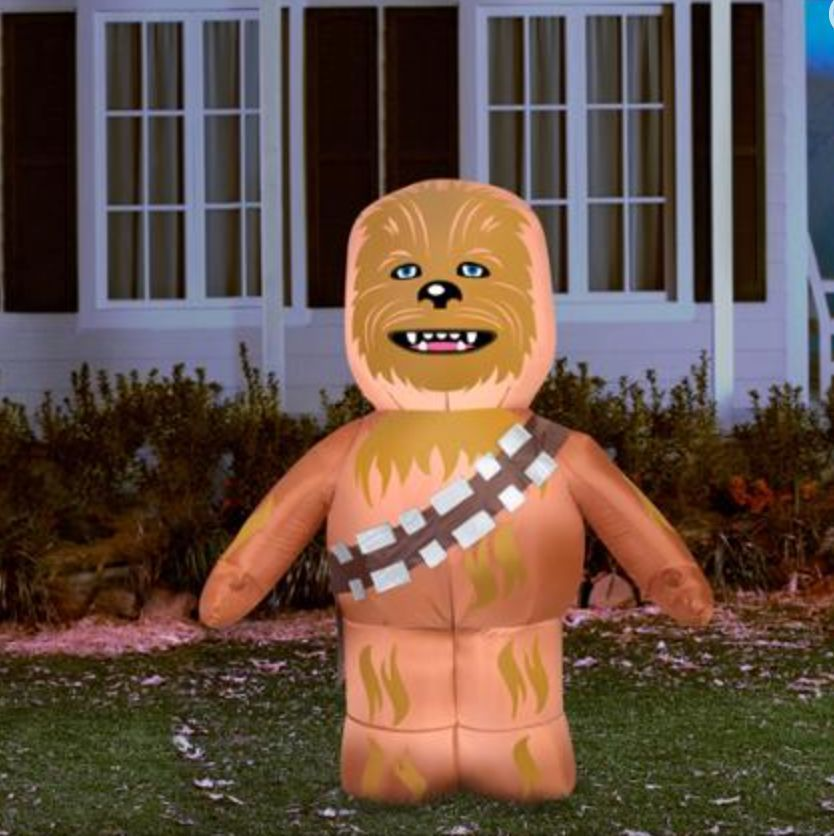 5' Tall Star Wars Chewbacca Halloween Airblown Inflatable Haunted Decor Outdoor