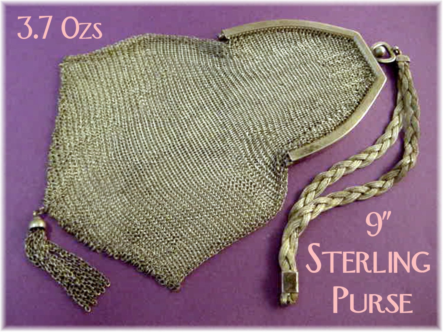 Sterling Silver Chatelaine Mesh 15