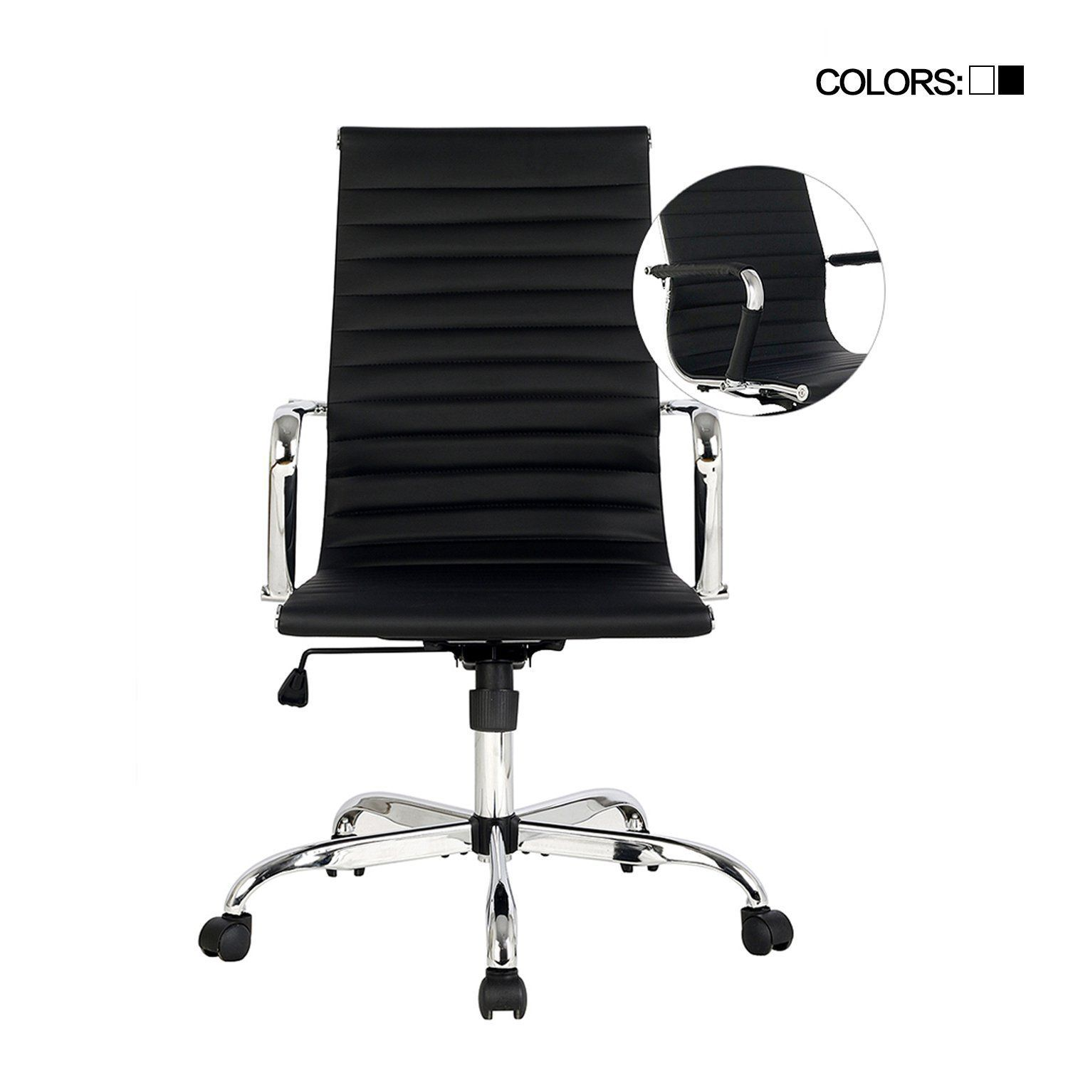 AmazonSmile : Elecwish, Adjustable Office Executive Swivel Chair, High Back  Padded, Tall Ribbed
