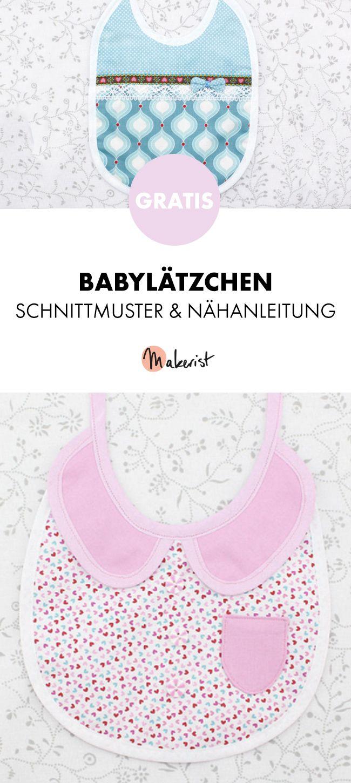 Gratis Anleitung: Babylätzchen selber nähen - Schnittmuster und ...