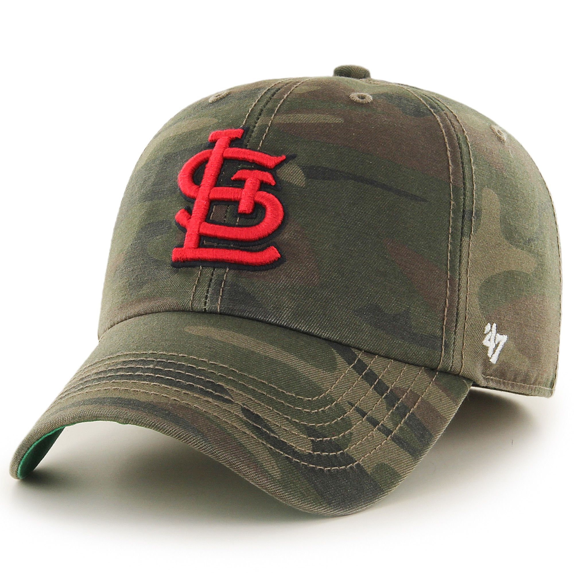 77753522048 St. Louis Cardinals  47 Harlan Franchise Fitted Hat - Camo ...