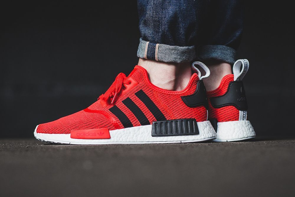 An On-Feet Look at the adidas NMD R1 Core Red/Black | Red adidas ...