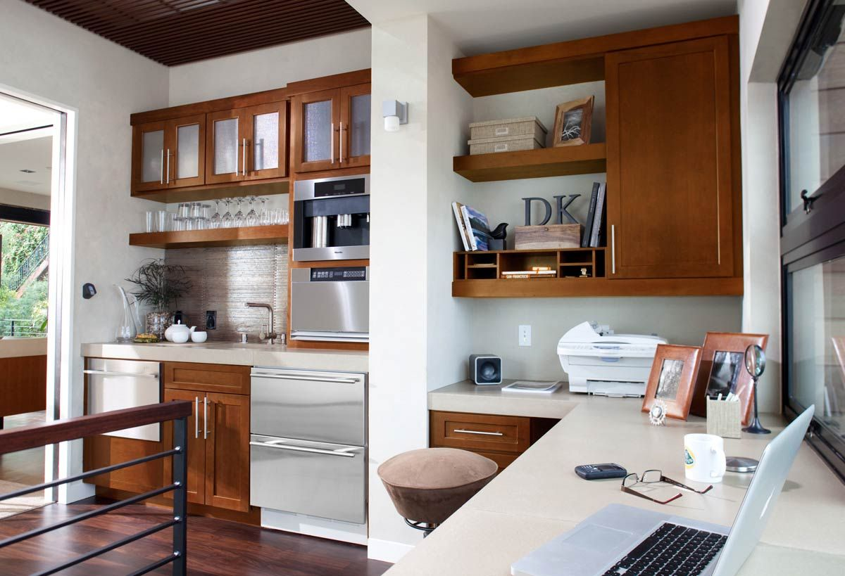 Office storage and wet bar waypoint living spaces style for Office wet bar