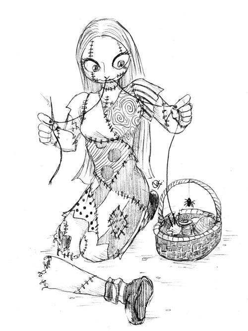 sally nightmare before christmas coloring pages   Coloring Pages ...