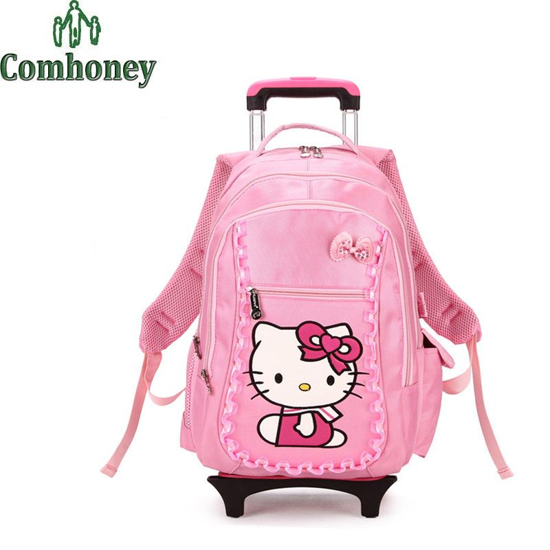3cc86f3a1e0 16 Inch Hello Kitty Suitcase for Girls Children Luggage Trolley School Bags  with Wheels Kids School Backpack for Travel Luggage   Price   164.70   FREE  ...