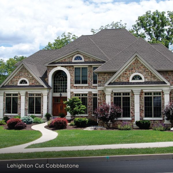 Stone veneer exterior lehighton cut cobblestone ply gem for Ashton heights siding