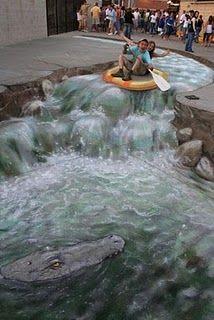 Awesome 3D sidewalk art!!