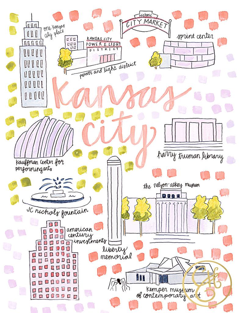 Kansas City Map Printtheres no place like home Dream