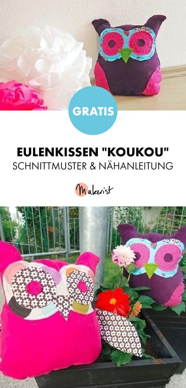 Berühmt Eulenkissen Schnittmuster Ideen - Strickmuster-Ideen ...