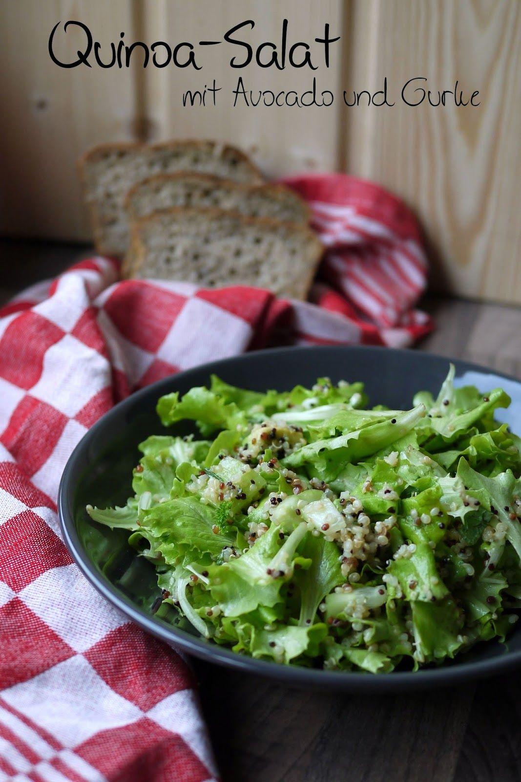 Experimente aus meiner Küche: Quinoa-Salat mit Avocado und Gurke