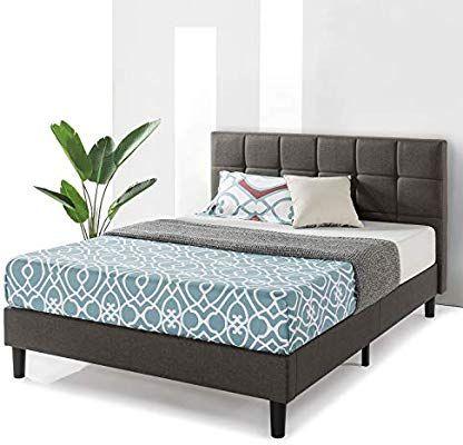 Amazon.com: Best Price Mattress Queen Bed Frame - Zoe Upholstered ...