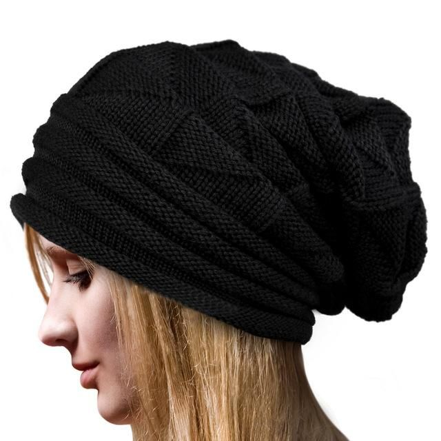 Women Fashion Warm Winter Crochet Knitting Hat Baggy Beanie Ski Cap ... 77cca5efbfe5