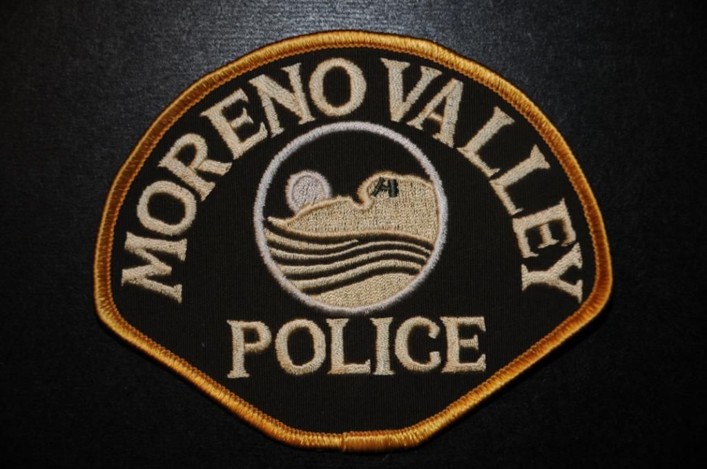 Moreno Valley Police Patch, Riverside County Sheriff Contract Agency, Riverside County, California