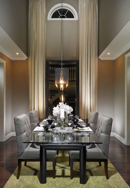Sitting Room And Dining Room Designs: Elegant, Beautiful Symmetry. #TallWindows #LoftyWindows