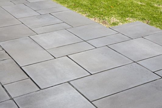 Basalt concrete pavers for a modern driveway  room with a