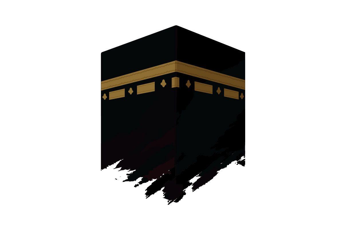 Kaaba In Mecca Landmark Building Vector Graphic By Emnazar2009 Creative Fabrica Mecca Wallpaper Islamic Wallpaper Islamic Art