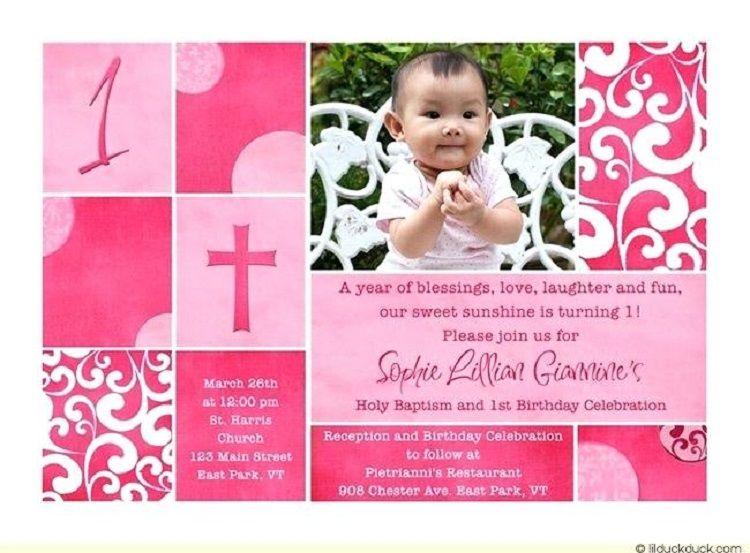 pink birthday invitation in marathi language 1st Birthday Invitations, Baptism Invitations, Pink Invitations,