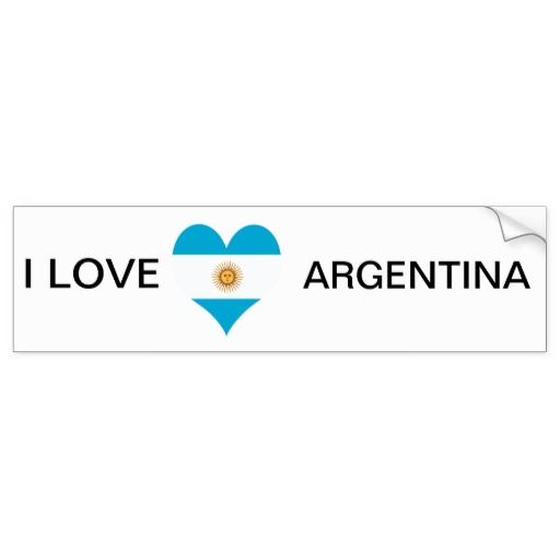 Argentina argentinian flag car bumper sticker