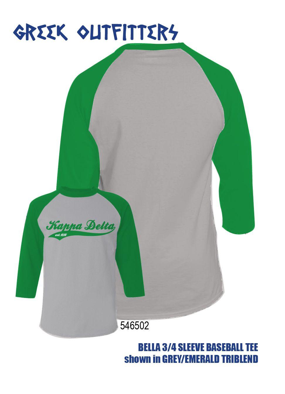 Kappa Delta Baseball Shirt - Kappa Delta Raglan Shirt QKBmc7XARE