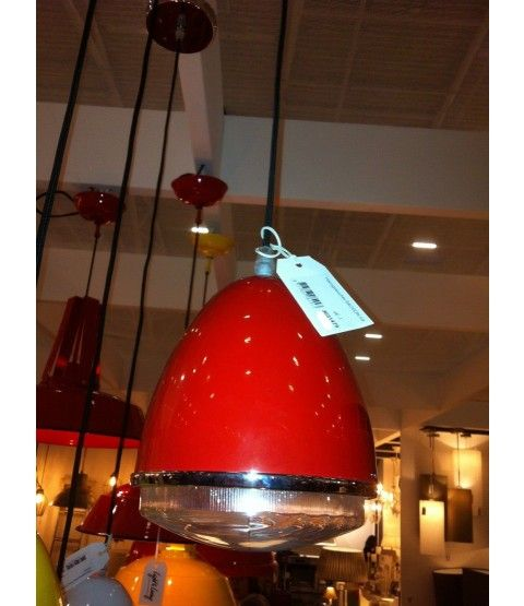 Light Living Deckenlampe Rot Wohnzimmer Diele Kche Lampe Upcycling NEU