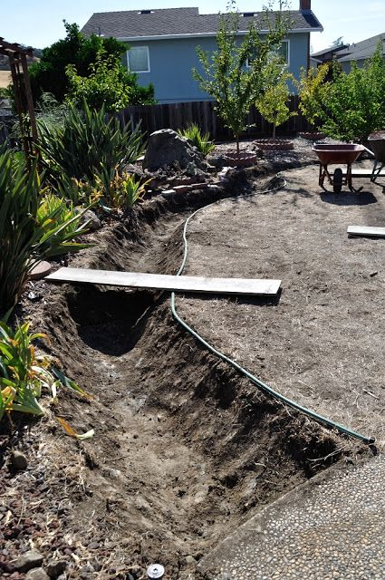 creating dry creek bed garden backyard pinterest garten ideen gartenbrunnen und g rten. Black Bedroom Furniture Sets. Home Design Ideas