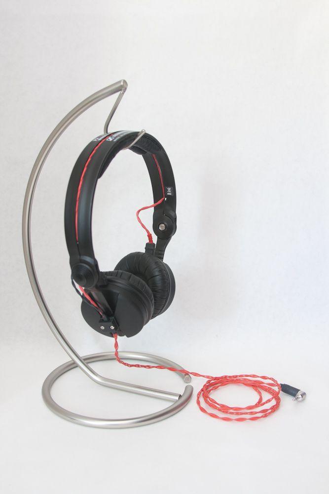 1x Black//White Head Mounted Computer Headset Hook  Headphone Rack CA