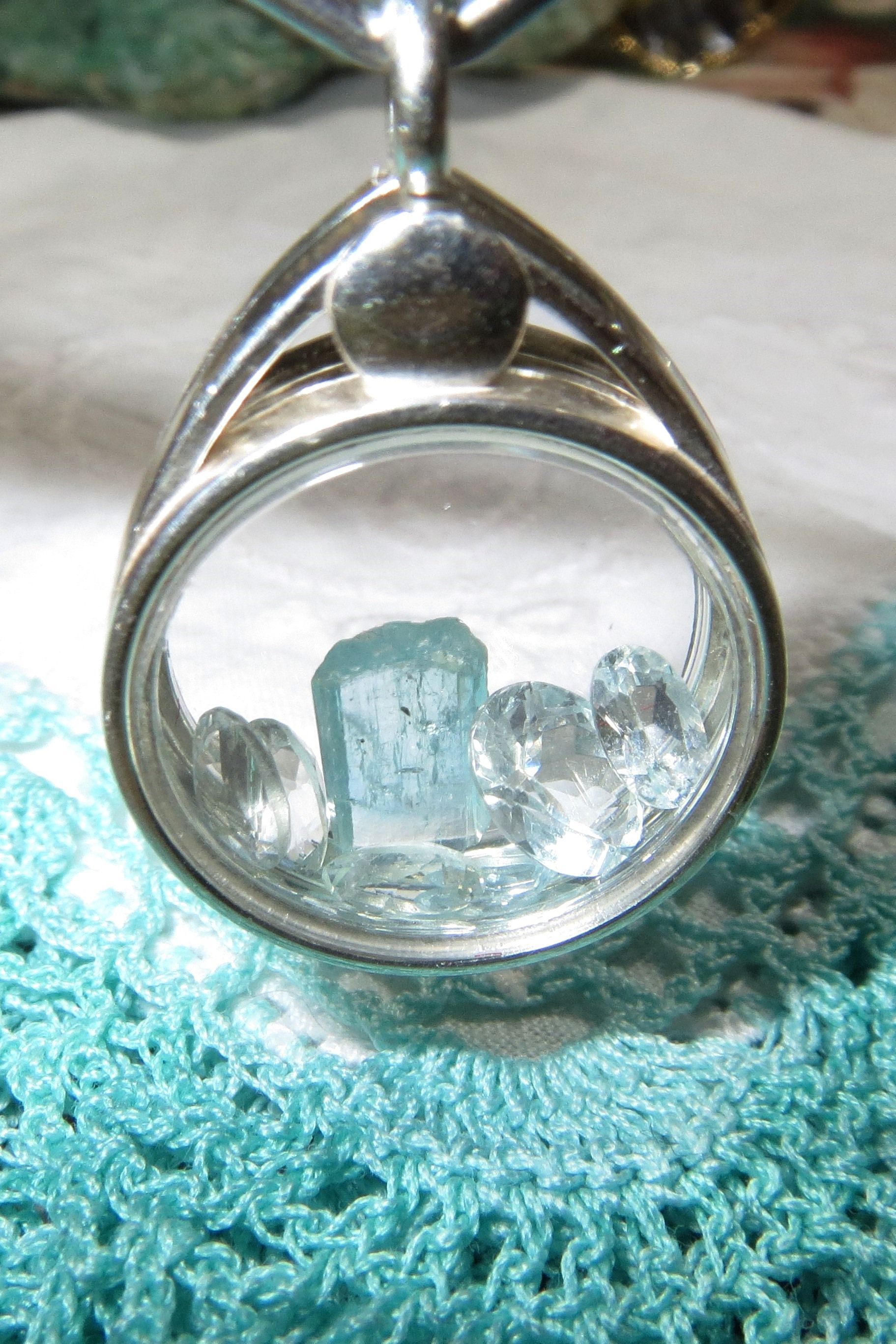 for glass floating lockets Silver SWIMMING Floating Charm