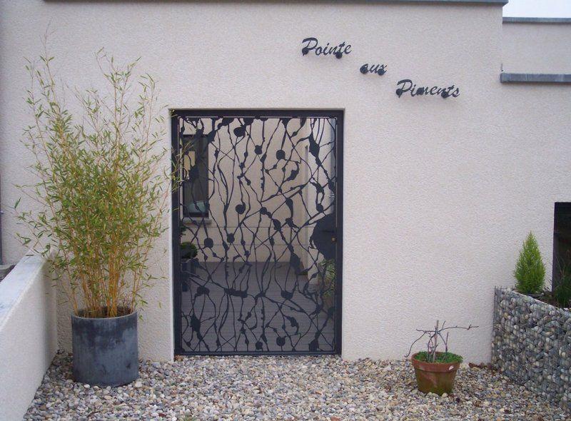 Porte en fer forg ferronerie pinterest porte en fer - Porte de jardin en fer ...