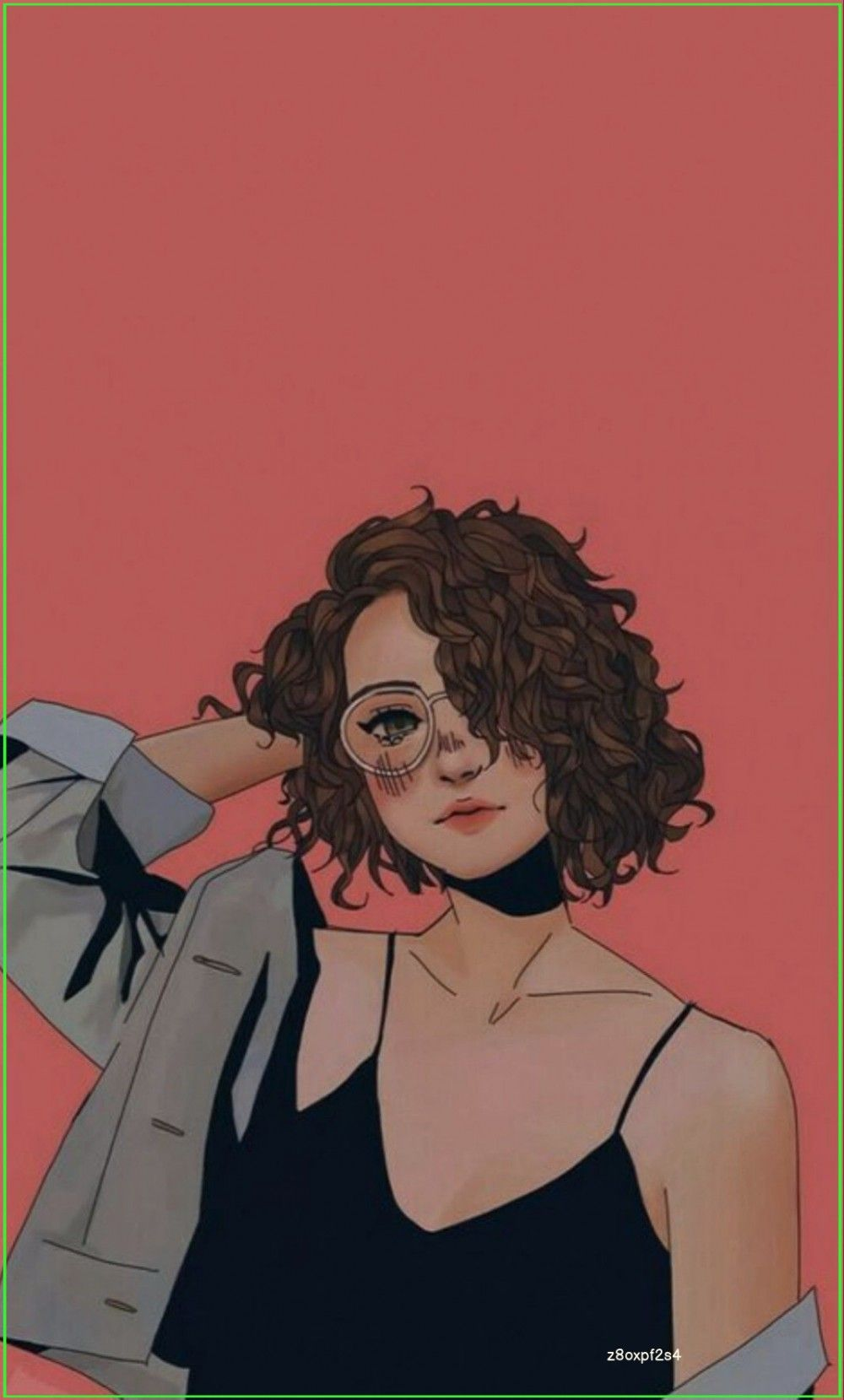 Hd Girly Wallpaper Cute Wallpaper Girl Short Hair Curly Hair Glasses Girl In 2020 Girl Short Hair Digital Art Girl Girly Art