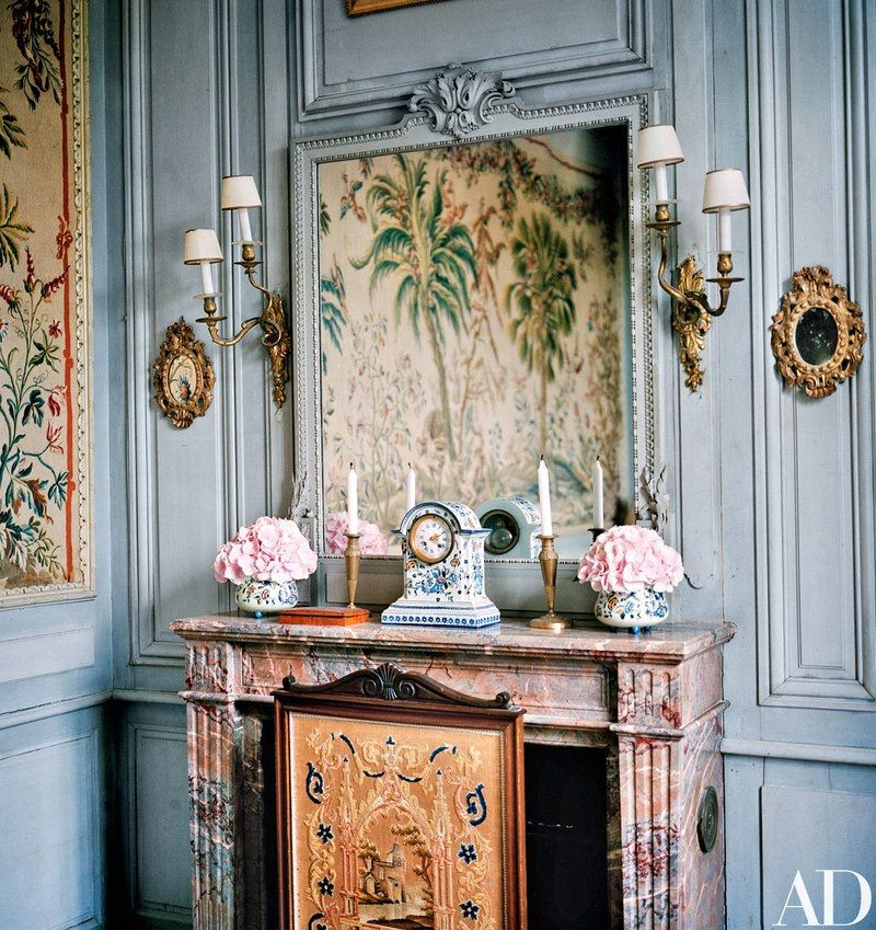 Chateau Du Fresne Val De Loire France Just So French Decoration Salon Ancien Peinture Murale Et Decoration